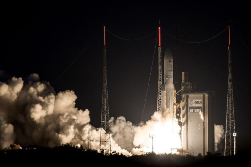 Arianespace launching a Vega 5 rocket. Photo: Getty/Forbes