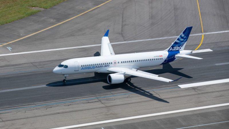 An Airbus A220. Photo: Airbus
