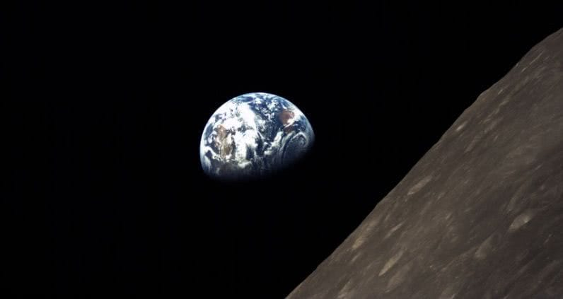 Earth, as seen from luna orbit by DSLWP-B. Photo: The National Association for Amateur Radio