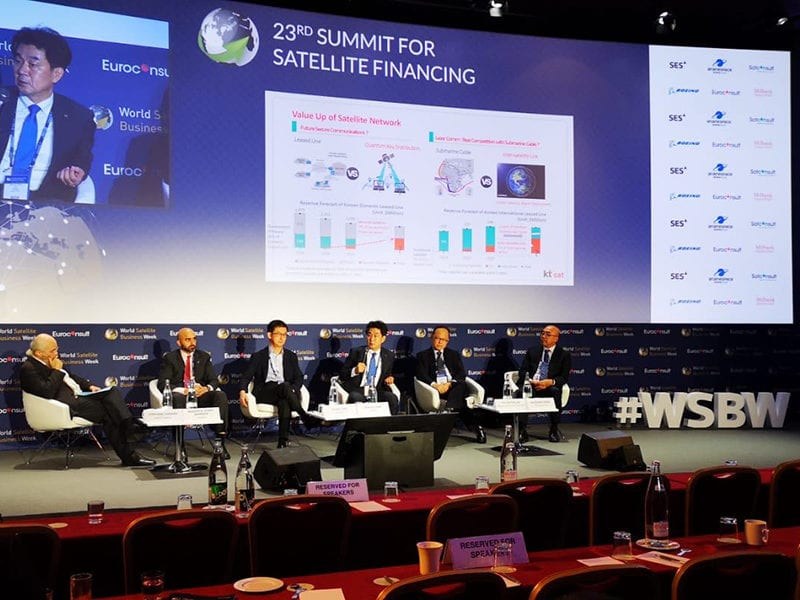 Opening panel from World Satellite Business Week 2019. Photo: Mark Holmes/Via Satellite