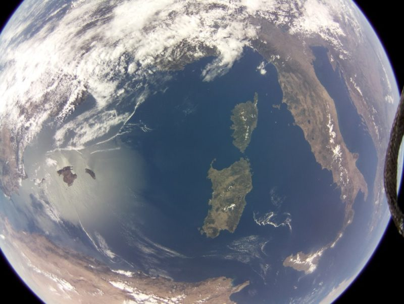 Image of the Mediterranean acquired by Raspberry Pi camera on board SSTL's DoT-1 satellite. Photo: SSTL