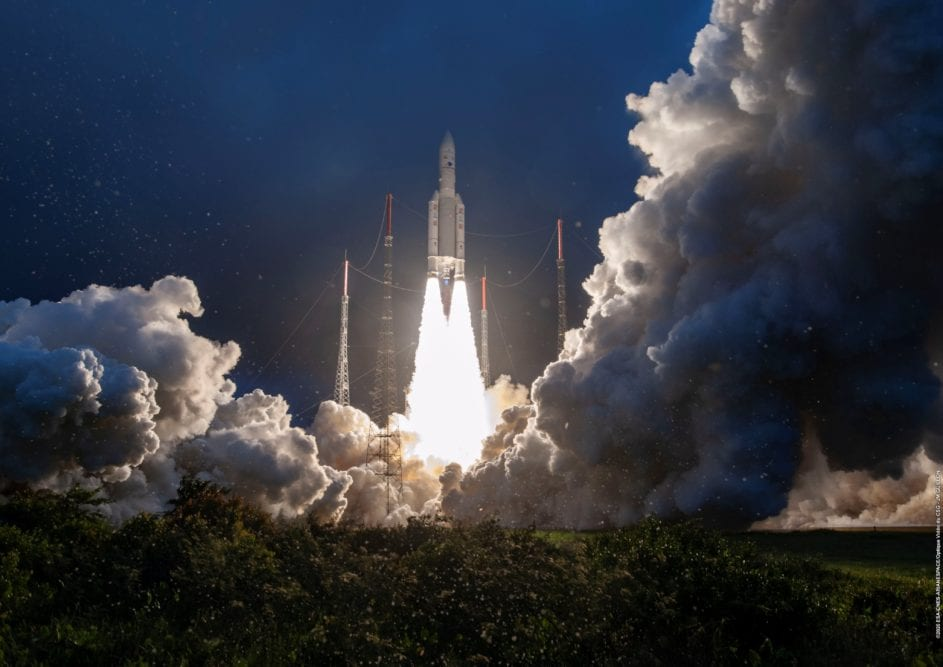 Arianespace Launches Satellites for Eutelsat, Indian Space Research Organization